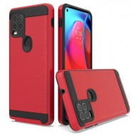 Hybrid Texture Brushed Metal case for MOTO G Stylus 5G 2021 - Red
