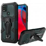 Travel Kickstand Clip Hybrid Case for MOTO G Stylus 5G 2021 - Midnight Green