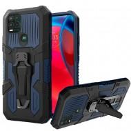 Travel Kickstand Clip Hybrid Case for MOTO G Stylus 5G 2021 - Navy Blue