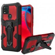 Travel Kickstand Clip Hybrid Case for MOTO G Stylus 5G 2021 - Red