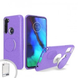 BLING CASE WITH POP UP FOR MOTO G STYLUS PURPLE