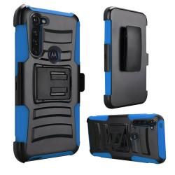 Armor Holster For Moto G Stylus -  Black+Dark Blue