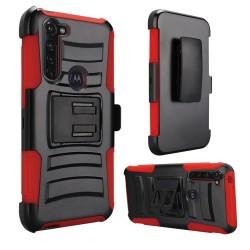 Armor Holster For Moto G Stylus -Black+Red