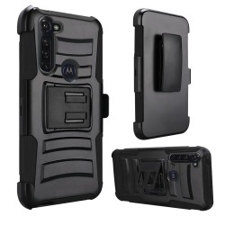 Armor Holster For Moto G Stylus -Black+Black