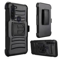 Armor Holster For Moto G Stylus -Black+Black