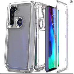 3-IN-1 HEAVY DUTY TRANSPARENT CASE FOR MOTO G STYLUS - CLEAR