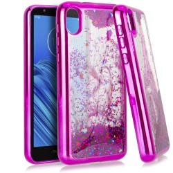 CHROME Glitter Motion Case Hot Pink For Motorola E6
