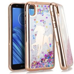 CHROME Glitter Motion Unicorn ROSE GOLD For Motorola E6