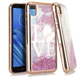 CHROME Glitter Motion Love ROSE GOLD For Motorola E6