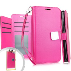 Deluxe Wallet w/ Blister Hot Pink For Motorola E6