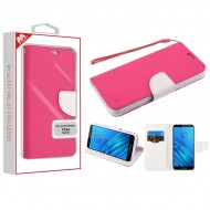 Hot Pink Pattern/White Liner MyJacket Wallet Crossgrain Series(842) -WP For Motorola E6