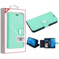 Teal Green/Dark Blue MyJacket Wallet Xtra Series (GE038) -WP For Motorola E6