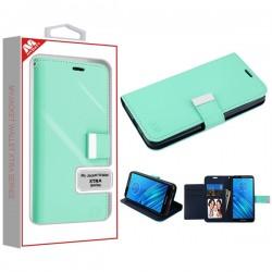 Teal Green/Dark Blue MyJacket Wallet Xtra Series (GE038) -WP For Motorola E6