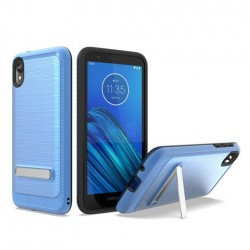 Brushed Metallic Case W/ Edge and Kickstands Blue For Motorola E6