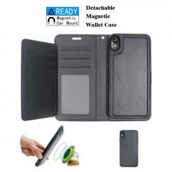 Luxurious Magnetic Wallet with Retail Package, Black For Motorola E6