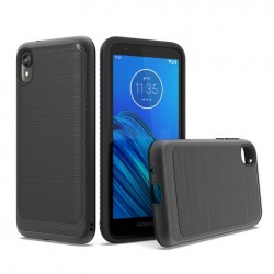 Brushed Metallic Case W/ Edge Black For Motorola E6