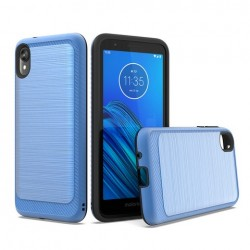 Brushed Metallic Case W/ Edge Blue For Motorola E6