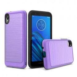 Brushed Metallic Case W/ Edge Purple For Motorola E6