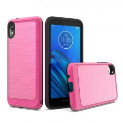 Brushed Metallic Case W/ Edge Hot Pink For Motorola E6