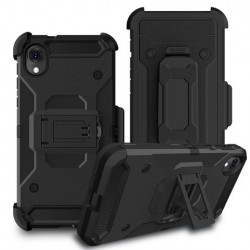 Premium Hybrid Holster, Black For Motorola E6