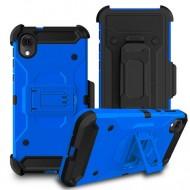 Premium Hybrid Holster, Blue For Motorola E6