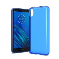 TPU case, Blue For Motorola E6