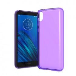 TPU case, Purple For Motorola E6