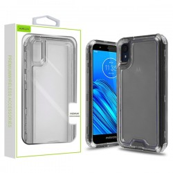 Transparent Smoke/Transparent Clear Hybrid Protector Cover (with Package) For Motorola E6