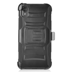 PR Hybrid Armor Case with Holster Black For Motorola E6