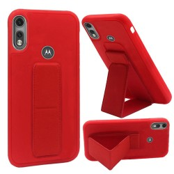 Premium PC TPU Foldable Magnetic Kickstand Works w/ car mount for moto e 2020 - Red