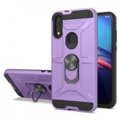 NEW MATTE DESIGN BRUSH CASE WITH RING STAND FOR MOTO E 2020 - PURPLE