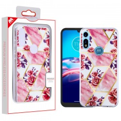 MYBAT Fusion Protector Cover for moto e 2020 - Electroplated Roses Marbling