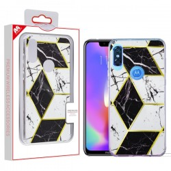 MYBAT Fusion Protector Cover for moto e 2020 - Electroplated Black Marbling