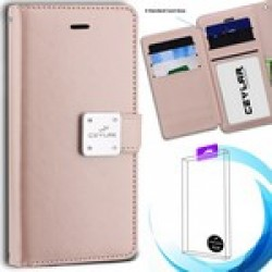 Luxurious Synthetic PU Leather 6 Card Slots Infolio for MOTOROLA moto e5 play
