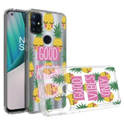 Design Transparent Bumper Hybrid Case for OnePlus Nord N10 5G - Good Vibes Only
