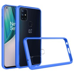 Transparent Hybrid Case for OnePlus Nord N10 5G - Blue