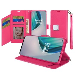 Wallet ID Card Holder for OnePlus Nord N10 5G - Pink