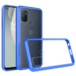 Transparent Hybrid Case for OnePlus Nord N100 - Blue