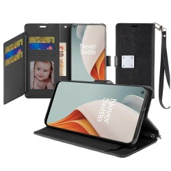 Wallet ID Card Holder for OnePlus Nord N100 - Black