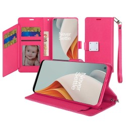 Wallet ID Card Holder for OnePlus Nord N100 - Pink