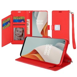 Wallet ID Card Holder for OnePlus Nord N100 - Red