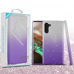 Purple Gradient Glitter Hybrid Protector Cover (with Package) For Samsung Note 10