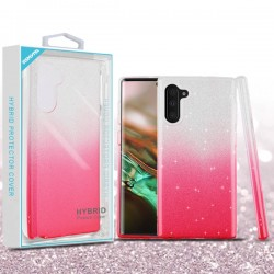 Pink Gradient Glitter Hybrid Protector Cover (with Package) For Note 10