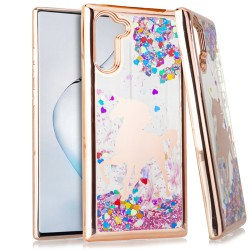 CHROME Glitter Motion Unicorn ROSE GOLD For Samsung Note 10