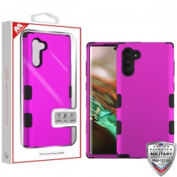 Titanium Solid Hot Pink/Black TUFF Hybrid Protector Cover [Military-Grade Certified](with Package) For Samsung Note 10
