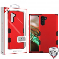 Titanium Red/Black TUFF Hybrid Protector Cover [Military-Grade Certified](with Package) For Samsung Note 10
