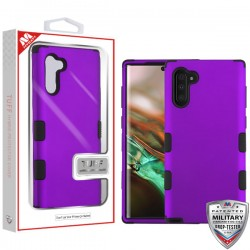 Rubberized Grape/Black TUFF Hybrid Protector Cover [Military-Grade Certified](with Package) For Samsung Note 10