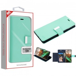 Teal Green/Dark Blue MyJacket Wallet Xtra Series (GE038) -WP For Samsung Note 10