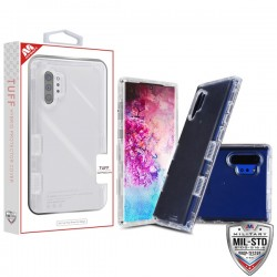 Transparent Clear/Transparent Clear TUFF Lucid Hybrid Protector Cover [Military-Grade Certified](with Package) For Note 10