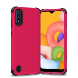King Dual Layer Tough Hybrid for Galaxy A01 - Hot Pink